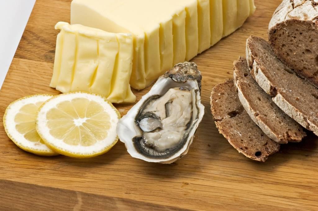 produits locaux huîtres et beurre salé